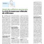 Article du dirigeant de Westfield dans le journal Les éco