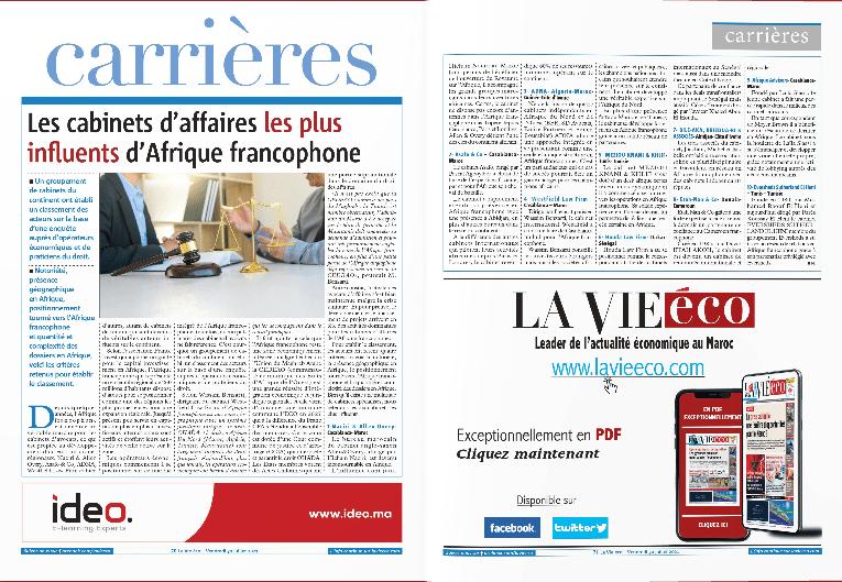 Westfield classé 4ième meilleur cabinet en Afrique francophone par la revue économique lavieeco